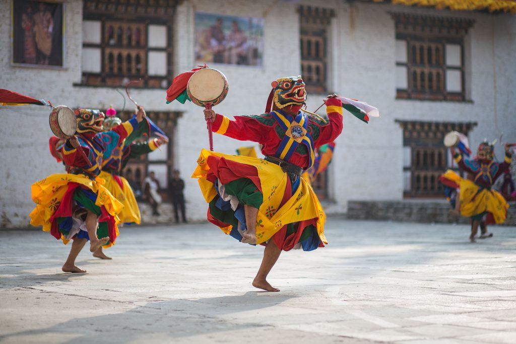 Festiwal w Bhutanie