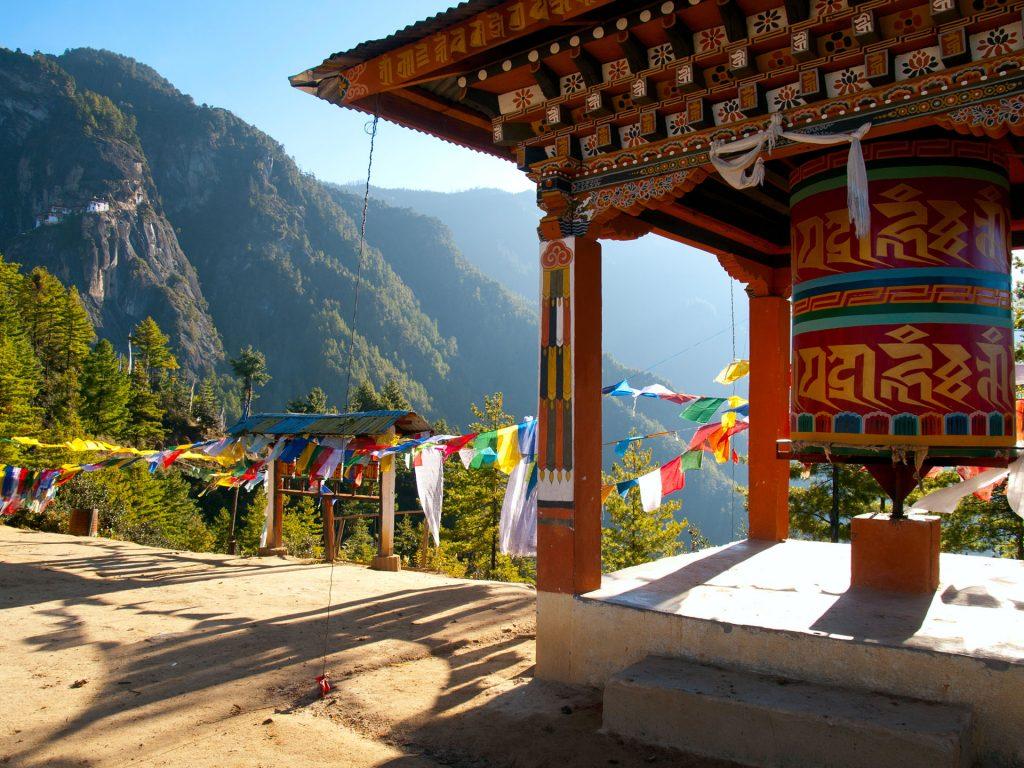 Tybetanskie flagi modlitewne