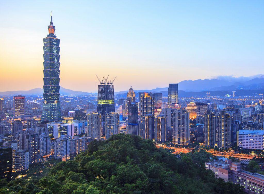 wieżowiec znajdujący się w Tajpej na Tajwanie